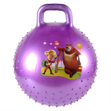wholesale jumping ball with handle /PVC ball children's toy football