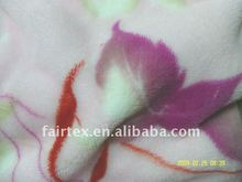 Flower Printed Coral Fleece For Blanket Use
