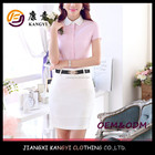 wholesale manufaturer latest design pink shirt lady
