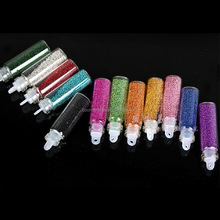 Micro mini Glitter Glass bottle bead treasures glass beads nail decoration
