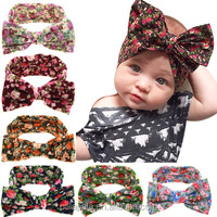 Infant Knotted Head Wraps,floral Girls Cheap Baby Wholesale Headband