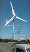 Hybrid wind and PV solar panel systems 1000W wind generator /windmill/wind turbine generator with battery