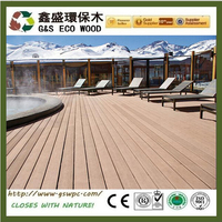 Europe standard outdoor wpc decking New design composite decking reviews with CE certificate anti-uv wpc board