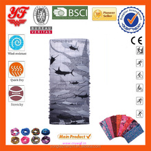 3D feeling fish design printed on seamless tube headwear bandanas for wholesales
