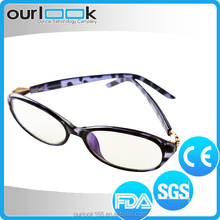 Popular TR90 Frame Metal Ornament Purple Color Branded Optical Frames Manufacturers In China