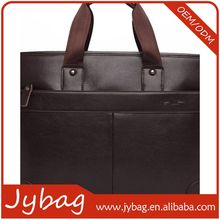 China factory price first grade handmade leather rolling briefcase