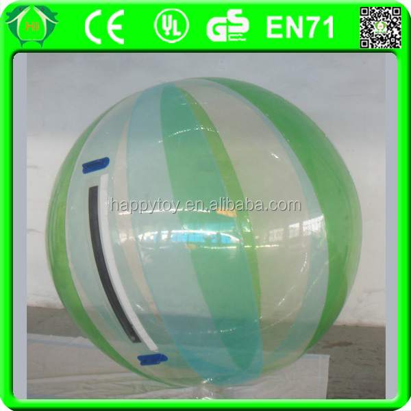 HI CE funny water waking ball, egg squeeze water ball