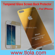 Ultra Thin HD Clear Explosion-Proof Colored Toughened Glass Cover for iPhone 5S (Front+Back)