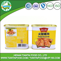 340g canned chopped pork and ham, meat snacks
