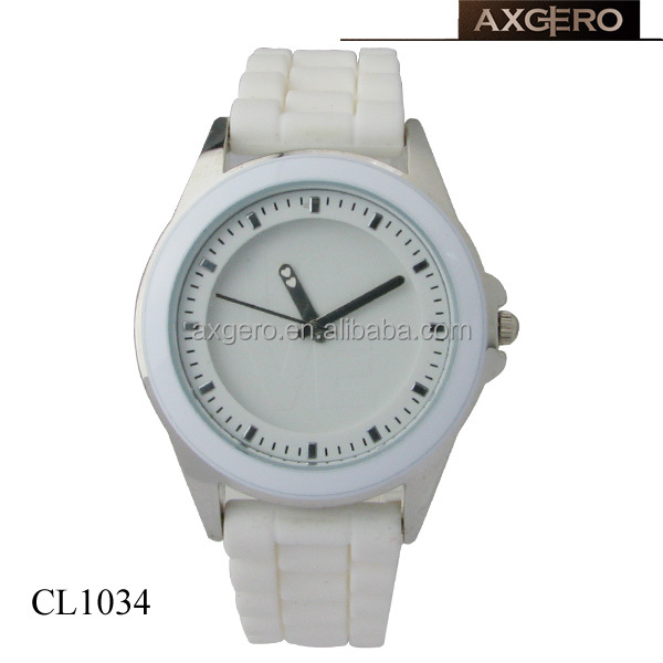 accept paypal wholesale woman white color bracelet watches 2014