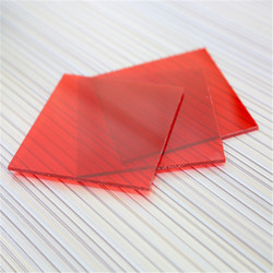custom high quality red transparent solid polycarbonate sheet for building materials