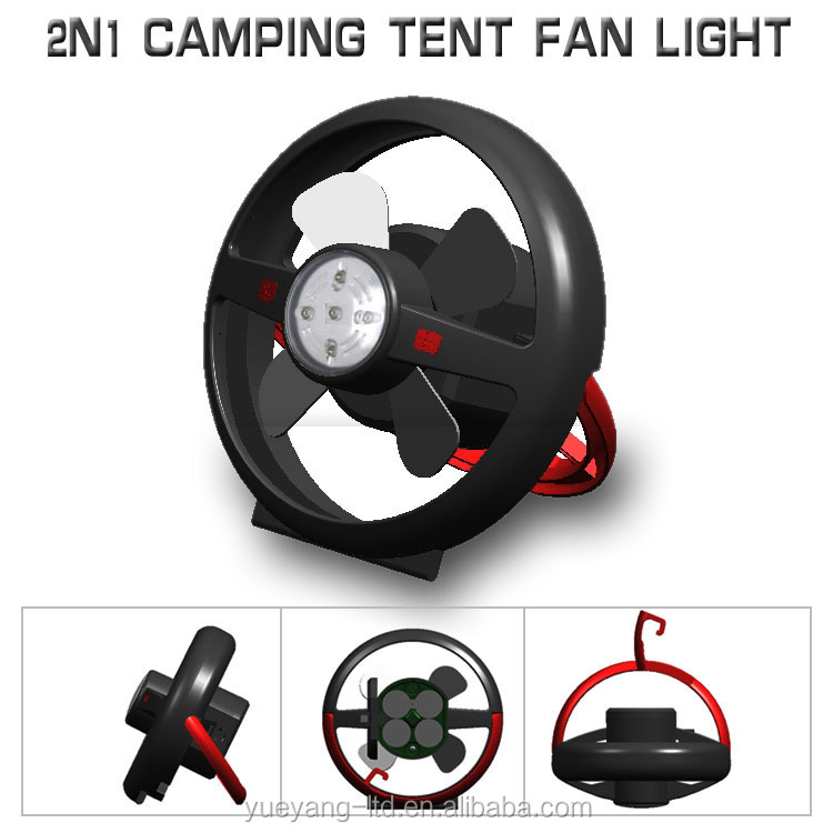 Newest emergency camping tent fan with light