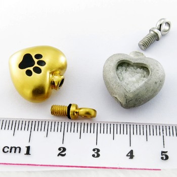 Shiny Cremation Heart Pendant Necklace For Pets