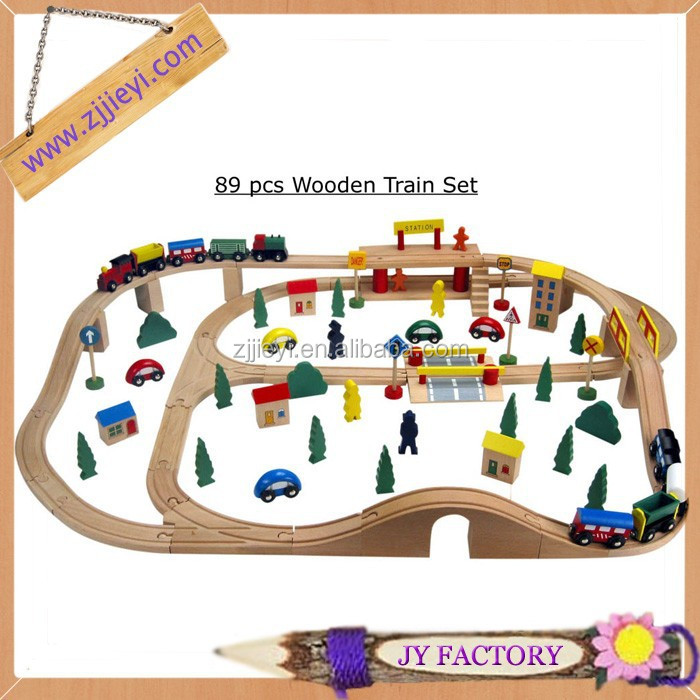 Best selling christmas gifts 2013 baby genius adventure train set build wooden toy train