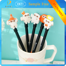 Alibaba express in Europe cartoon white 0.5mm black ink plastic/pvc Gel pen for signature writing