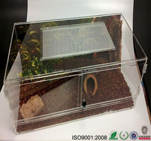 Large clear acrylic used reptile /snake display cages for sale