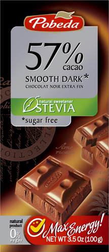 smooth dark sugar free stevia 57% cocoa