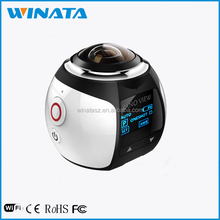 2016 Hottest 4K 30 fps Panorama Wifi Sport 360 Degrees Action camera with accessories wifi camera with app