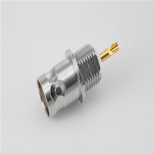 75 ohm nickel plated BNC female bulkhead mount inter-type rf connector