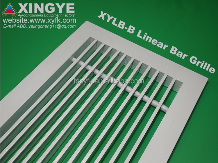 HVAC Air conditioner ventilation grille design air grille aluminum linear bar grilles diffusers louvers XYLB-B