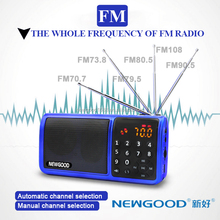 HIFI AM,FM,SW screen portable radio with LED flashlight and bluetooth