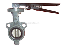 jis 10k wafer butterfly valve D71X-10K/Cast iron/handle and gear operate/ EPDM seat