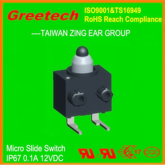 2p3t slide switch 2-3 way micro slide switches, greetech zing ear slide switch,miniature waterproof smd 4p2t slide switch