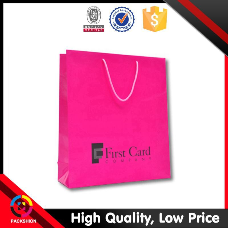 Customized Logo Ribbon Packing Art Paper Paper Craft Bags