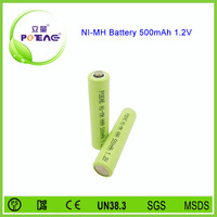 aaa 500mah 1.2v ni mh rechargeable battery for counter