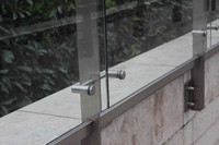 Glass wall stainless steel railing post fitting accessory