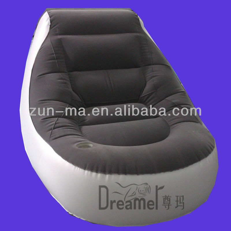 Living Room Furniture Inflatable Sofa Bed Set Lazy Single Person Bean Bag PVC Flocking Sofa