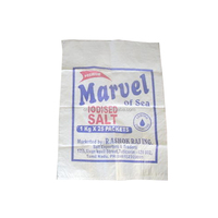 2 color printing 25kg salt packaging Woven polypropylene bags