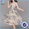 Yihao New Floral Formal Chiffon Bridesmaid Evening Party Ball Gown Prom Beach Dress