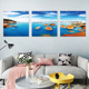 Home Decoration Modern Art Beautiful Seascape Scenery Crystal decorative oil Painting