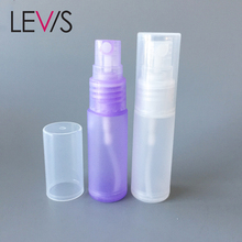 Empty purple white colored 15ml 18ml 20ml perfume spray pump clear plastic mist bottle