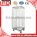 foldable transporting roll storage container