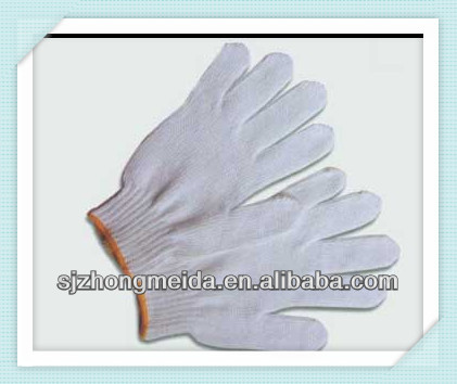 knitted hand gloves, jacquard glove,white cotton knitted glove