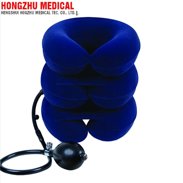 Full flannel inflatable air neck traction with manufactory price