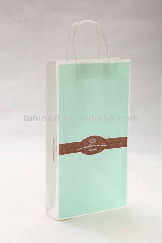 Kraft Paper Bag with Handle-Hawaiian Charm