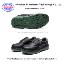 Shenzhen supplier good quality safety shoes/red wings safety shoes with litchi stria cow leather
