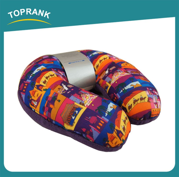 Toprank Custom Transfer Printed Animal Shaped Microbead Pillow Stuffing U Shape Neck Pillow ...