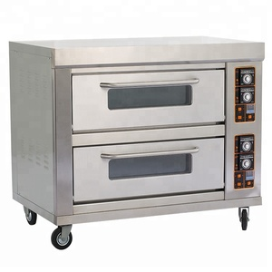 Factory prices bakery equipment bread making machine gas commercial bakery oven for sale with double layer four tray