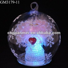 wholesale 2018 newest product perfect designed art minds crafts accept personal tailor led glass christmas ball