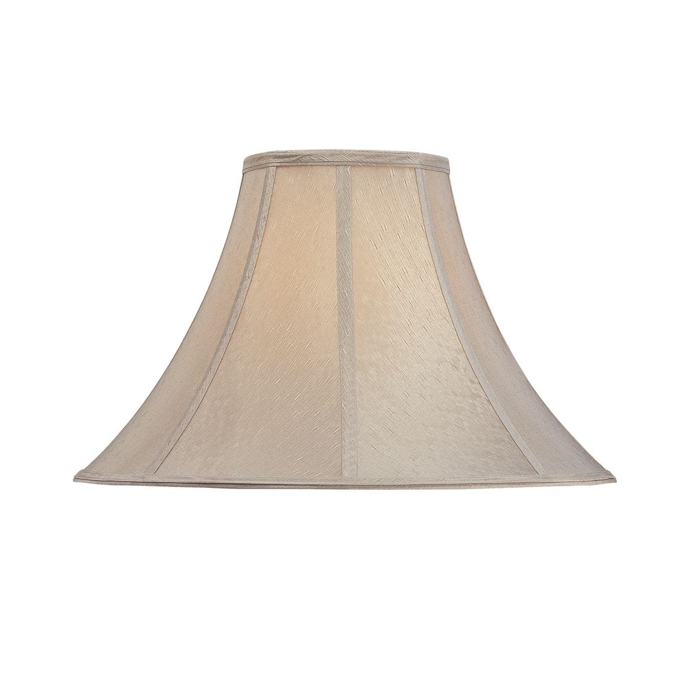 Customize Size Natural Colored Round Bell Hard Back Hanging Fabric Lamp Shade For Support