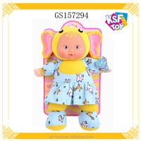 13 Inch Fashion Soft Doll Plush Body IC Doll With Music