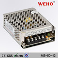 2 year warranty 12v 4.2a mini-size single output 50w power supply