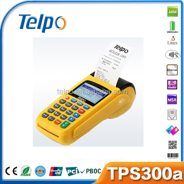 Programmable TPS300a bank pos phone call magnetic card reader