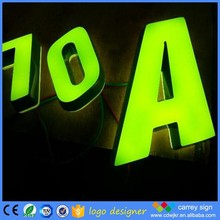 Led fancy number alphabet gold mirror letters of the decorated