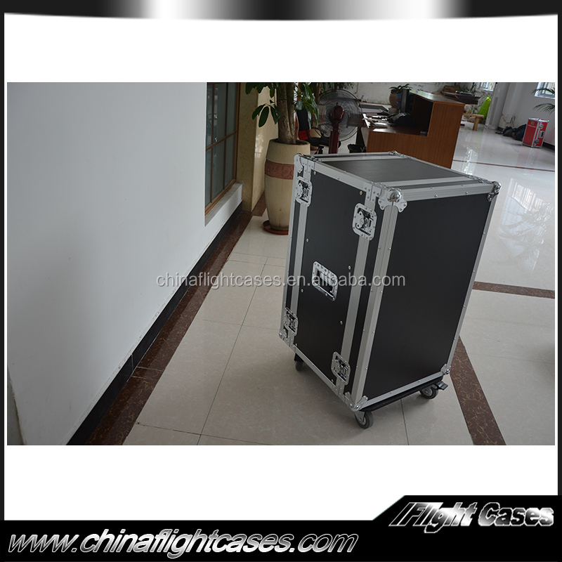 Portable 19inch 18u anti-shock rack case with caster for sale