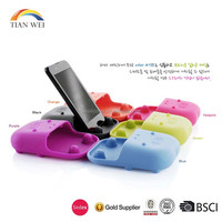 Hippo Shaped Silicone Cell Phone Speaker/ amplifier/silicone horn speaker